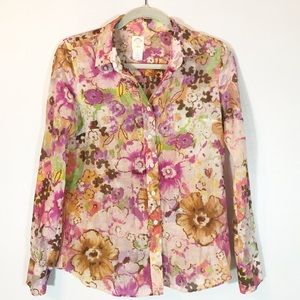 J. Crew floral 🌸 cotton/silk top
